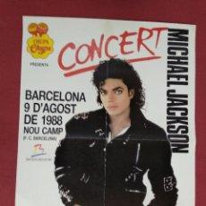 Carteles: CARTELL. CONCERT MICHAEL JACKSON. BARCELONA 9 D'AGOST DE 1988 NOU CAMP. . Lote 140051210