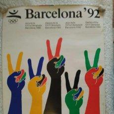 Carteles: CARTEL ORIGINAL- OLIMPIADA BARCELONA 1992- AUTOR ENRIC SATUE. Lote 140231226