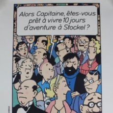 Carteles: HOMMAGE A HERGE A STOCKEL.AÑO 1988.. Lote 140741798