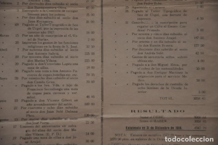 Carteles: cartel centro obrero catolico de orgaña, organya, 1918 - Foto 3 - 142893730