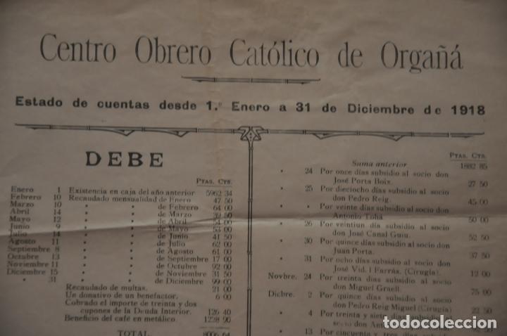 Carteles: cartel centro obrero catolico de orgaña, organya, 1918 - Foto 5 - 142893730