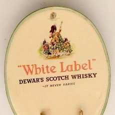 Carteles: ANTIGUO EXPOSITOR DEL WHISKY ESCOCÉS WHITE LABEL. Lote 143953942