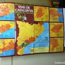 Carteles: CARTEL VINOS DE CATALUÑA - 1980- 94X65 CM.. Lote 144105178