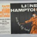 Carteles: CARTEL DE CONCIERTO JAZZ-LIONEL HAMPTON EXCELENTE DECORACION. Lote 165149542