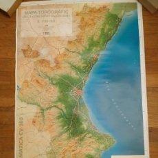 Carteles: MAPA CARTOGRÁFICO DE LA COMUNIDAD VALENCIANA. PERFECTO ESTADO. MEDIDAS 112,5X69. Lote 146802374