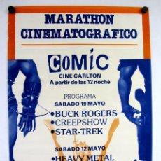 Carteles: MARATÓN CINEMATOGRÁFICO. CINE CARLTON. COLABORA CHIVATO Nº50. POSTER ORIGINAL 46X67CMS.. Lote 147348814