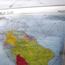 Carteles: CARTEL ESCOLAR (1)... MAPA DE ESCUELA... AMERICA FISICO-POLITICO. 1984. Lote 147514050