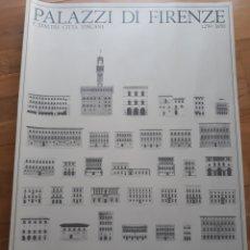 Carteles: CARTEL / POSTER DE ARQUITECTURA PALACIOS DE FLORENCIA Y DE OTRAS CIUDADES DE LA TOSCANA. Lote 193717353