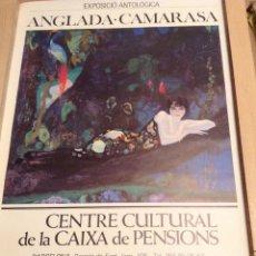 Carteles: ANGLADA CAMARASA CENTRE CULTURAL CAIXA PENSIONS 1982 62 X 42 CMS. Lote 149220338