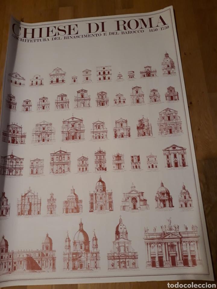 Carteles: Cartel / póster arquitectura Iglesias de Roma del renacimiento y del barroco 1450 - 1750 - Foto 3 - 266552663