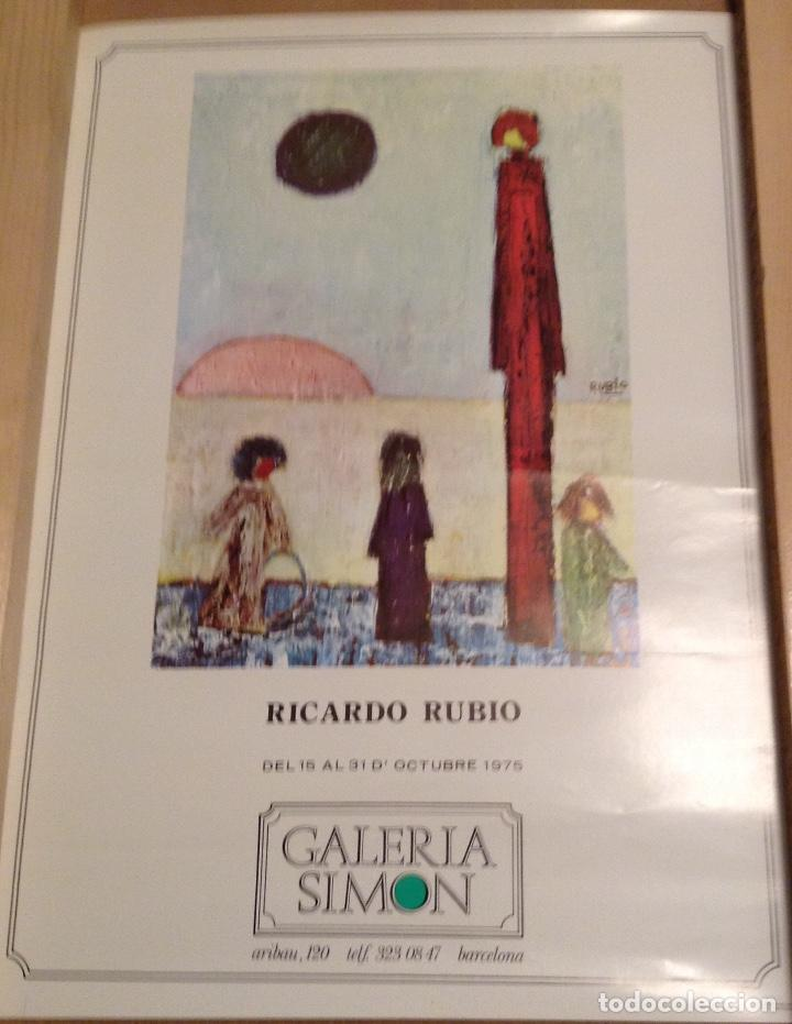RICARDO RUBIO GALERIA SIMÓN BARCELONA 1975 42 X 30 CMS (Coleccionismo - Carteles Gran Formato - Carteles Varios)
