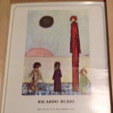 Carteles: RICARDO RUBIO GALERIA SIMÓN BARCELONA 1975 42 X 30 CMS. Lote 149362514