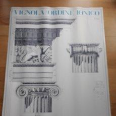 Carteles: CARTEL POSTER ARQUITECTURA ORDEN JÓNICO GRABADO POR VIGNOLA. Lote 149364130