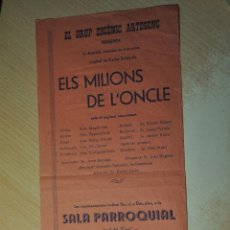 Carteles: CARTEL GRUP ESCENIC ARTESENC, ARTESA DE SEGRE. Lote 149562150