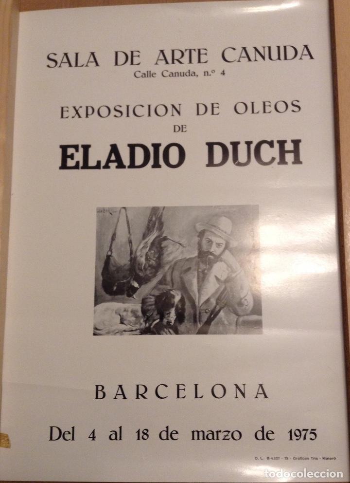ELADIO DUCH SALA DE ARTE CANUDA BARCELONA 1975 47 X 34 CMS (Coleccionismo - Carteles Gran Formato - Carteles Varios)