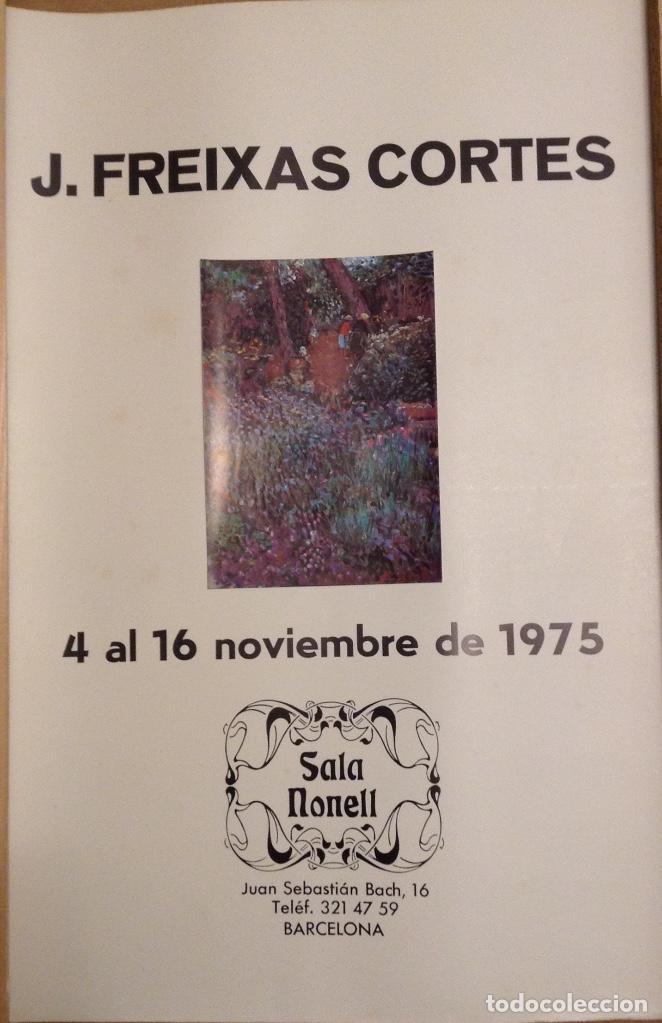 J. FREIXAS CORTES SALA NONELL BARCELONA 1975 50 X 35 CMS (Coleccionismo - Carteles Gran Formato - Carteles Varios)