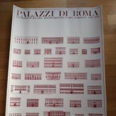 Carteles: CARTEL / PÓSTER ARQUITECTURA PALACIOS DE ROMA. ARQUITECTURA DEL RENACIMIENTO Y DEL BARROCO 1450-175. Lote 149985977