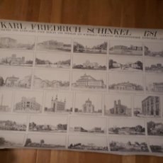 Carteles: CARTEL /POSTER KARL FRIEDRICH SCHINKEL 1781 - 1841. Lote 150004816