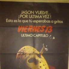 Carteles: VIERNES 13 - 4 ULTIMO CAPITULO - POSTER ORIGINAL 70X100 . Lote 150239862