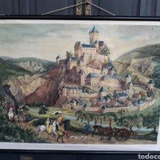 Carteles: ANTIGUA Y PRECIOSA LITOGRAFÍA DIDÁCTICA GERMANY AÑOS 50. Lote 150777729