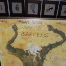 Carteles: (M) ANTIGUO CARTEL MIQUEL BARCELÓ GALERIA SALVADOR RIERA BARCELONA JUNY 1992 65X47,5 CM. ENMARCADO . Lote 150794330