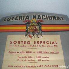 Carteles: 75ANTIGUO CARTEL DE SORTEO DE LA LOTERIA TAMAÑO 50X75. Lote 150985186