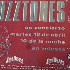 Carteles: ORIGINAL PÓSTER CARTEL CONCERTÓ FUZZTONES. Lote 151058158