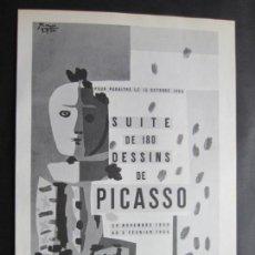 Carteles: 1963-MUSEO ARTE MODERNO PARIS. EXPOSICIÓN DE PABLO PICASSO. 5 CARTELES ORIGINALES DE 1963. Lote 151365106