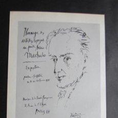Carteles: 1963-MUSEO ARTE MODERNO PARIS. EXPOSICIÓN DE PABLO PICASSO. 3 CARTELES ORIGINALES DE 1963. Lote 151365274