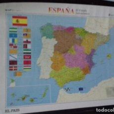 Carteles: CARTEL. MAPA DE ESPAÑA. EL ESTADO AUTONOMICO. . Lote 151471406