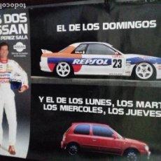 Carteles: CARTEL AUTOMOVILISMO. LOS DOS NISSAN DE LUIS PEREZ SALA. . Lote 151489566