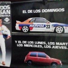Carteles: CARTEL AUTOMOVILISMO. LOS DOS NISSAN DE LUIS PEREZ SALA. . Lote 151489638