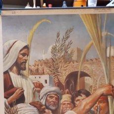 Carteles: CARTEL RELIGIOSO VILAMALA, MICIANO, JESÚS ENTRA EN JERUSALÉN. Lote 151530218