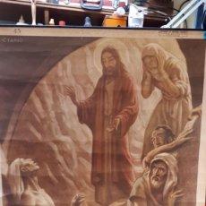 Carteles: CARTEL RELIGIOSO VILAMALA, MICIANO, RESURRECCIÓN DE LÁZARO. . Lote 151530702