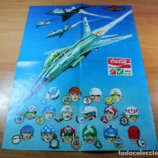 Carteles: CARTEL POSTER COMIC ESCUADRILLA F16 BELGA AMBLORIX GOEDENDAG CHARDON COMETE MEPHISTO COCOTTE F-16. Lote 151645538