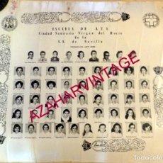 Carteles: SEVILLA, 1980, ORLA PROMOCION 1977-1980, ESCUELA DE ATS VIRGEN DEL ROCIO,59X50 CMS. Lote 152269882