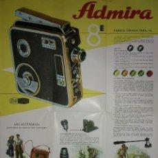 Carteles: 1946 ADMIRA. CÁMARA TOMAVISTAS. PUBLICIDAD CAMARA FOTOGRAFICA. Lote 114594527