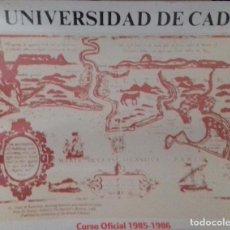 Carteles: CARTEL. UNIVERSIDAD DE CADIZ. CURSO OFICIAL 1985-1986. . Lote 153637158