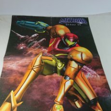 Carteles: POSTER CARTEL DOBLE METROID + HALO HOBBY CONSOLAS 60X45CM. Lote 153679649