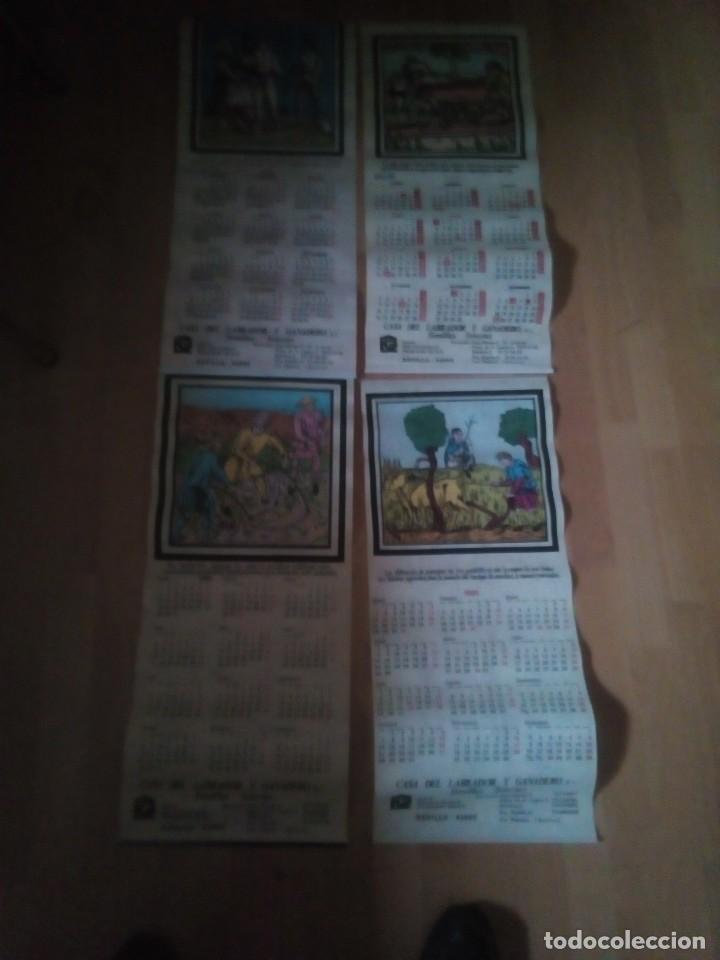 LOTE DE 4 CALENDARIOS EN TELA DE LA CASA DEL LABRADOR Y GANADERO DE SEVILLA AÑOS 80/90 (Coleccionismo - Carteles Gran Formato - Carteles Varios)
