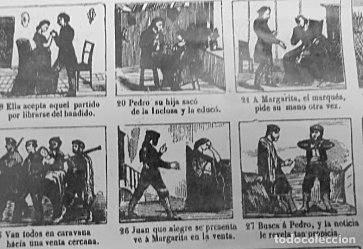 Carteles: AUCA EL CORAZÓN DE UN BANDIDO 44 x 32 CM. SIGLO XIX - Foto 2 - 154302058
