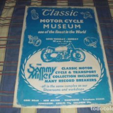 Carteles: CARTEL MOTOR CYCLE MUSEUM - SAMMY MILLER -. Lote 154406014