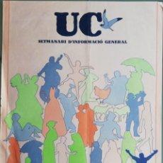 Carteles: UC - CARTEL SEMANARIO DE INFORMACIÓN GENERAL. IBIZA. BALEARES. Lote 154555186