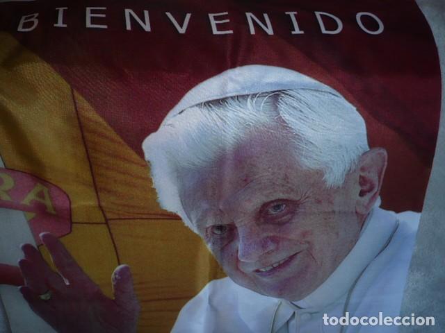 Carteles: CARTEL DEL PAPA BENEDICTO XVI EN TELA FINA - Foto 3 - 155465018