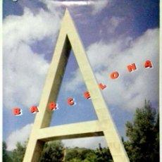 Carteles: CARTEL. OLIMPIADAS BARCELONA 1992. JARDINS DEL VELODROM. ESCULTURA JOAN BROSSA.. Lote 156922754