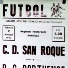 Carteles: CARTEL . FUTBOL. ESTADIO JOSE DEL CUVILLO. 1997. EL PUERTO DE SANTA MARIA.. Lote 156923430