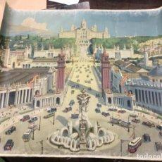Carteles: CARTEL/TELA - EXPOSICIÓN UNIVERSAL DE BARCELONA - 1929. Lote 157274702