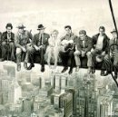 Carteles: ACTORES EN EL ANDAMIO DE NUEVA YORK (POSTER). Lote 159925797