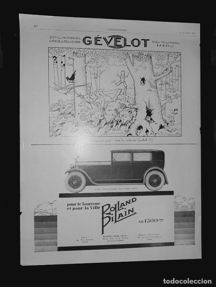 AUTOMÓVILES ROLLAND-PILAIN - 30 X 40 CM - LAMINA ORIGINAL DE LA REVISTA ´´L´ILLUSTRATION´´ - 1931 (Coleccionismo - Carteles Gran Formato - Carteles Varios)