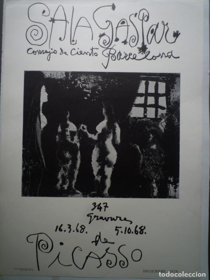 PICASSO. 347 GRAVURES. 16.3.68 / 5.10.68. SALA GASPAR. BARCELONA. 1970 (Coleccionismo - Carteles Gran Formato - Carteles Varios)